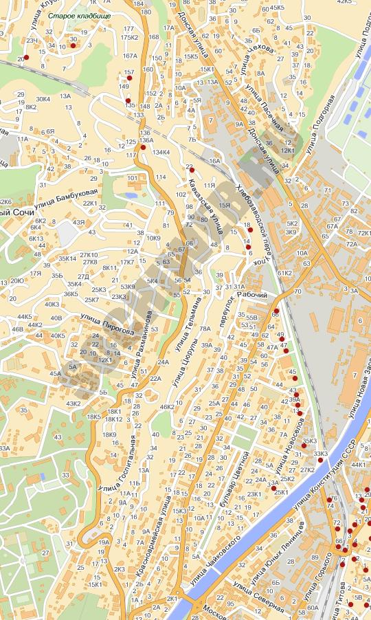 Схема участка старое кладбище
