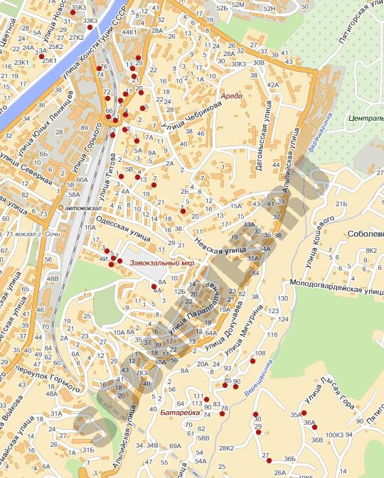 Карта участка улица Фабрициуса