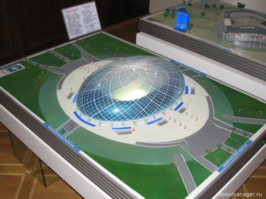 будущий хоккейный стадион в Сочи - макет