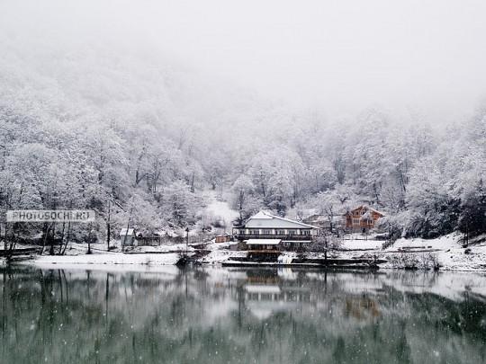 сегодня Сочи засыпан снегом