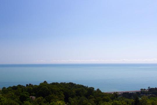 На снимке — побережье Черного моря, в Хостинском районе города Сочи