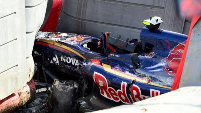 Серьёзная авария на трассе F1 в Сочи