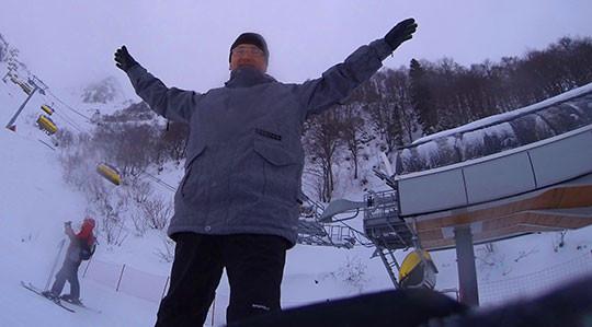 Красная Поляна радует гостей снегом